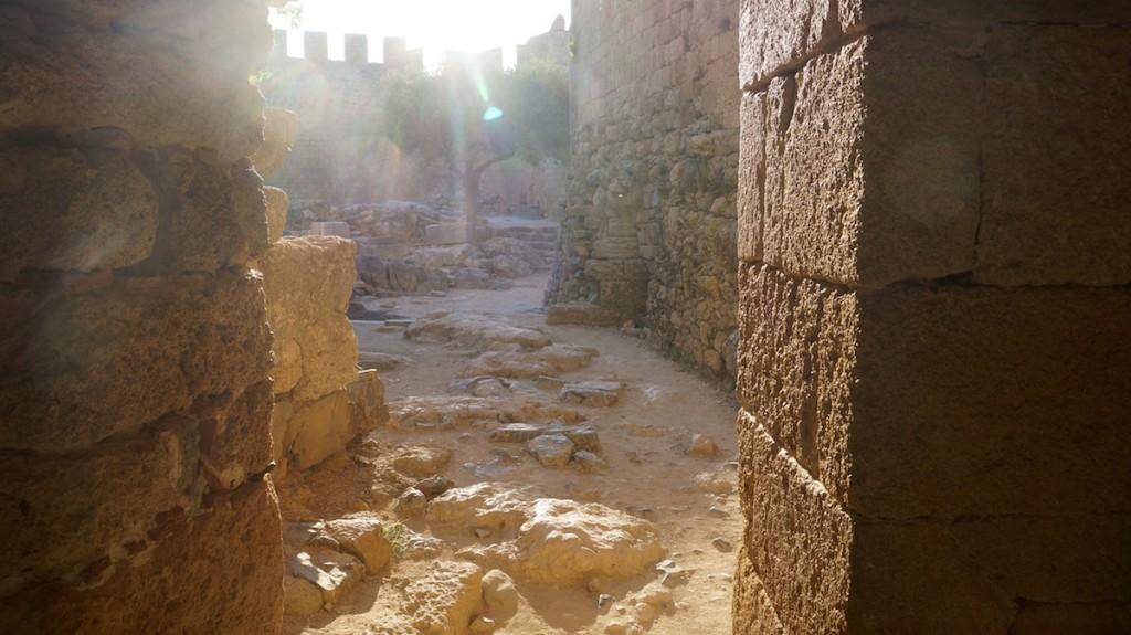 particolare dell'Acropoli di Lindos
