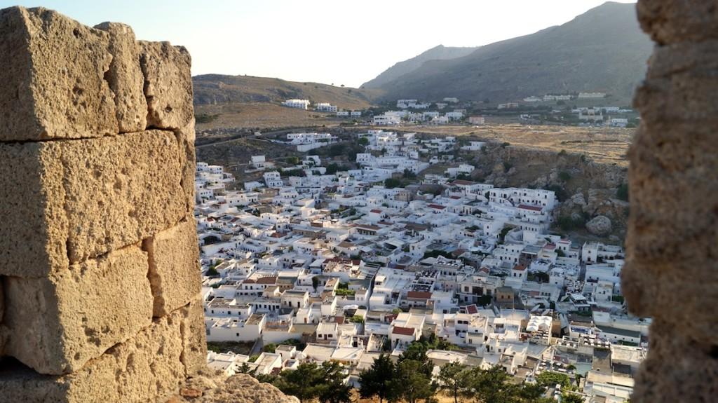 vista di Lindos dall'Acropoli