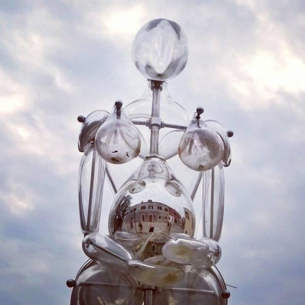 scultura in vetro Vitae