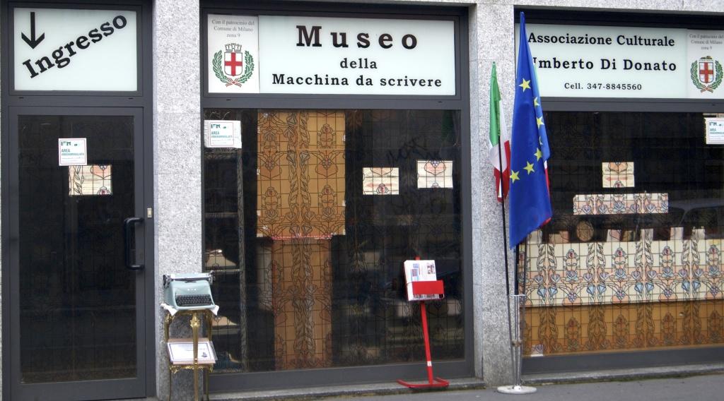 ingresso museo della macchina da scrivere