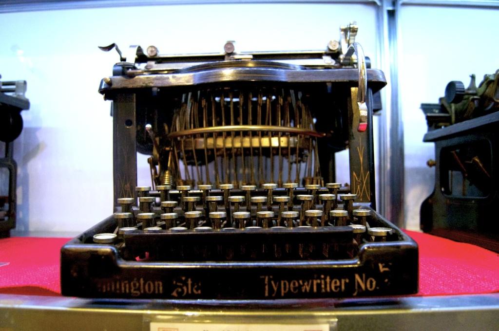 macchina da scrivere a scrittura cieca del museo della macchina da scrivere