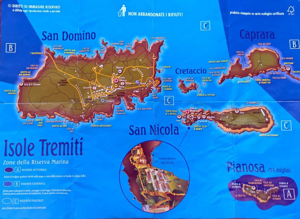 Isole Tremiti mappa