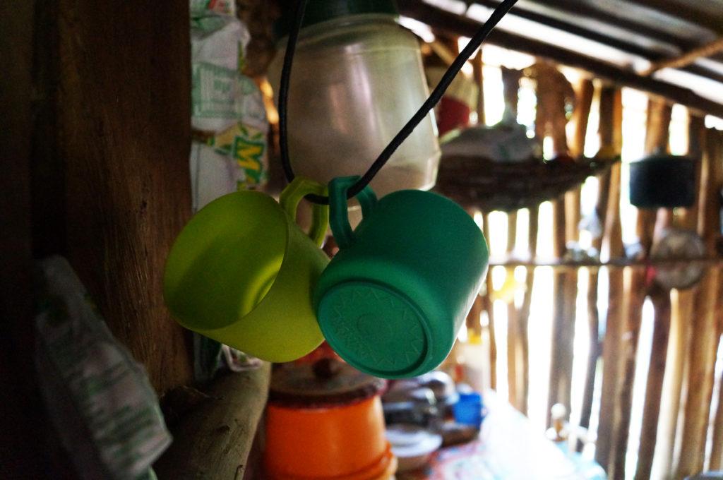 Interno di una casa nel villaggio di Esmeralda