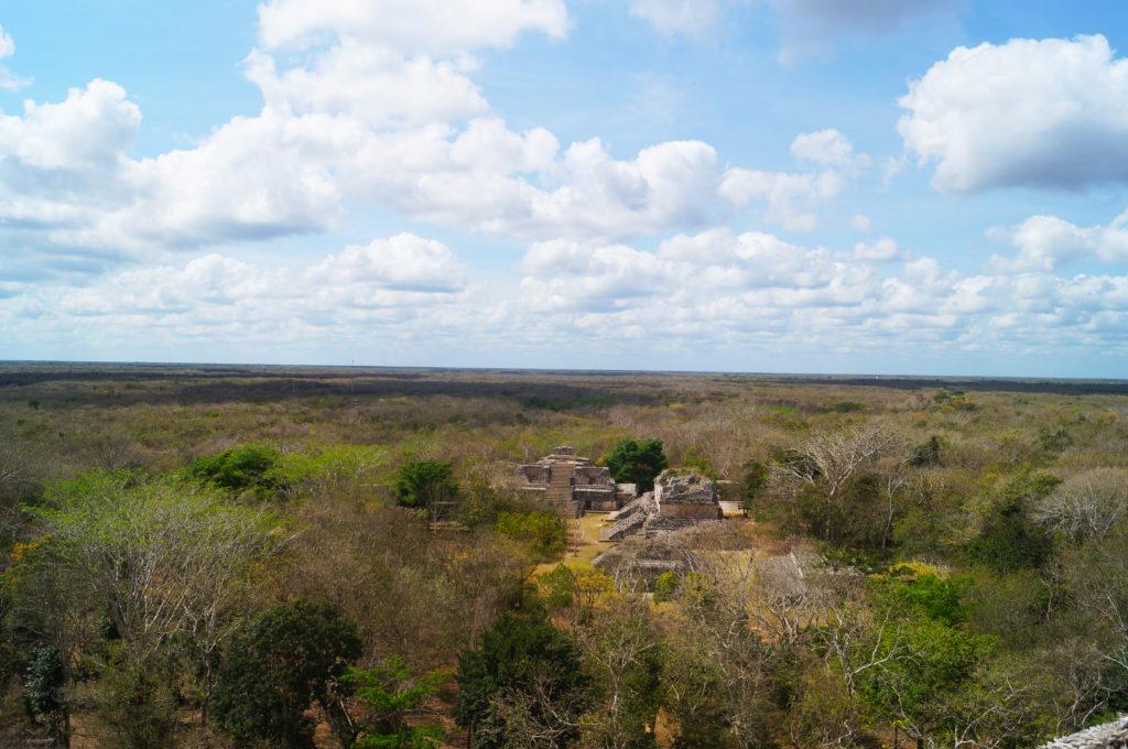 Il panorama dal tempio di Cobà