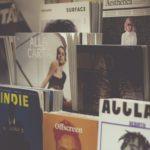 Le riviste di moda in mostra libreria.